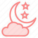 cloud, halloween, moon, night, sky, staricon icon