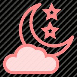 cloud, halloween, moon, night, sky, staricon icon