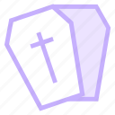 coffin, death, halloweenicon