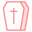 coffin, halloweenicon icon