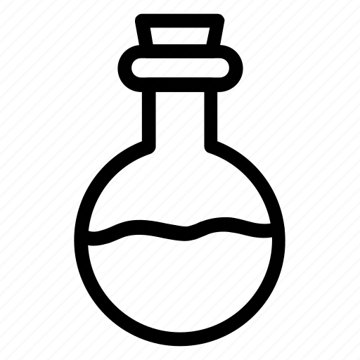 beaker, chemistry, glass, halloween, poison, potion, witchicon icon