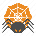 death, halloween, spider icon