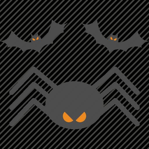 bat, halloween, spider icon
