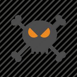 halloween, skull icon