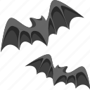 bats, halloween icon