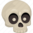 bones, dead, death, horror, monster, skull icon