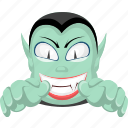 dracula, halloween, monster, vampire, zombie icon