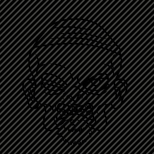 dead, evil, face, halloween icon