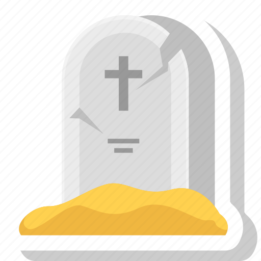 dead, graveyard, halloween, rip, scary, tombstone icon