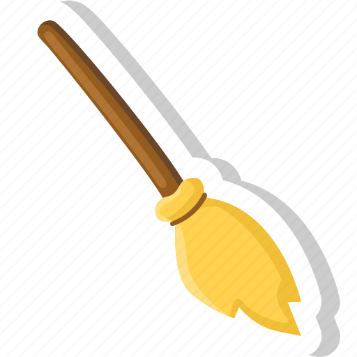 broom, halloween, horror, scary, witch icon