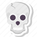 danger, death, pirate, poison, skeleton, skull icon