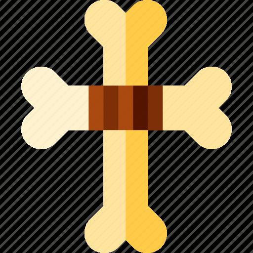 bones, cross, shape, two icon