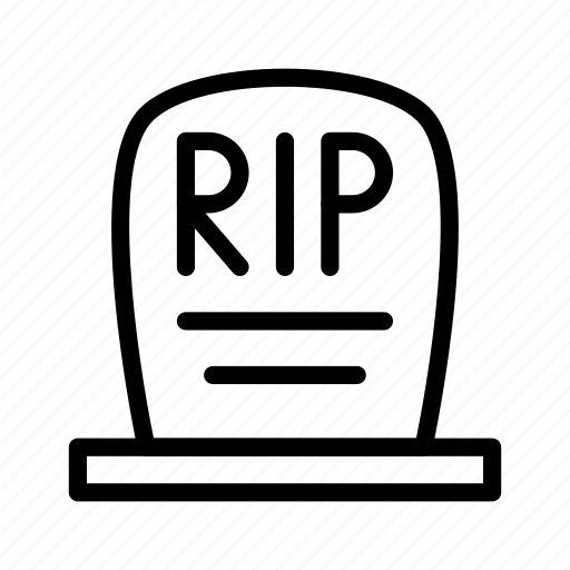 death, ghost, grave, halloween, tomb icon