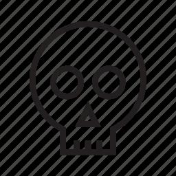 bones, face, halloween, head, skull icon