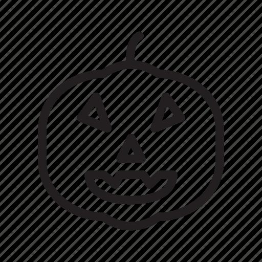 fear, horror, pumpkin, scary, spooky icon