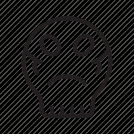 alien, death, face, horror, skull icon
