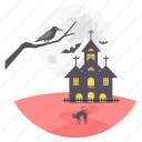 ghost house, halloween, horror, scary, spooky icon