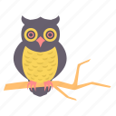 bird, halloween, horror, owl, scary, spooky icon