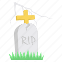death, grave, halloween, rip, scary, spooky icon