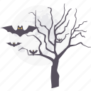 bat, forest, halloween, horror, spooky, tree icon