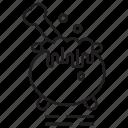 bones, chemical, cook, halloween icon