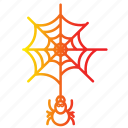 bug, halloween, horror, scary, spider, web icon