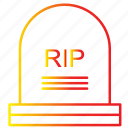 funeral, gravestone, graveyard, halloween, rip, tombstone icon
