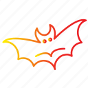 bat, danger, dark, evil, flight, halloween icon
