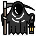 death, grim, horror, monster, mud, reaper icon