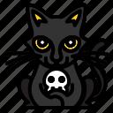 animal, blackcat, funny, pet icon
