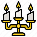 candlelight, candles, fire, flame, light icon