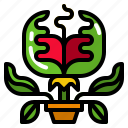 carnivorous, catch, evil, plant, trap icon
