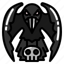 bird, crow, dark, raven icon