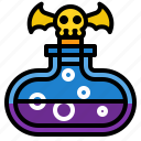 bottle, danger, medical, poison, toxic icon