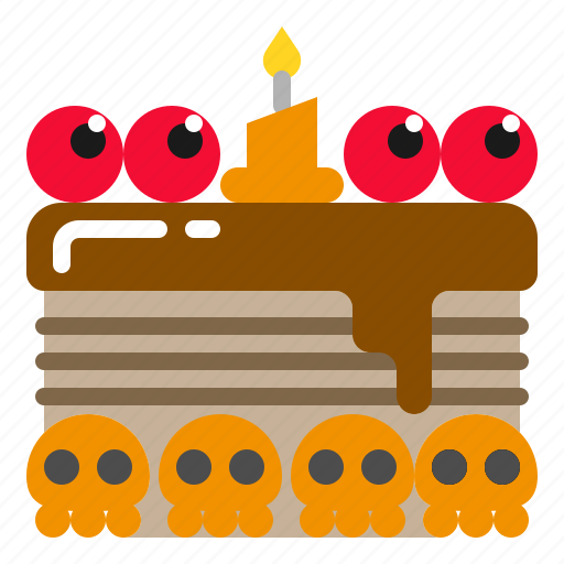 Dessert, food, halloweencake, party, scary icon - Download on Iconfinder