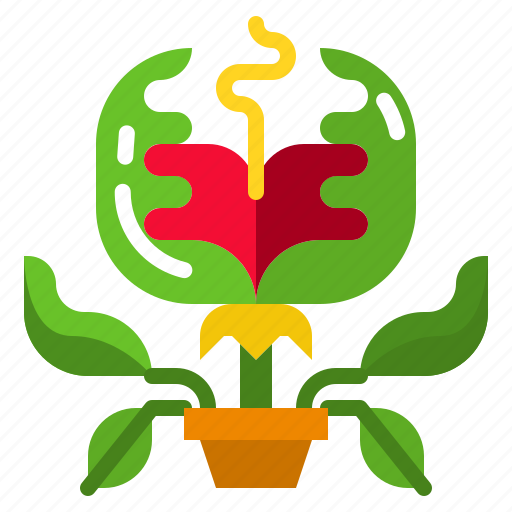 Carnivorous, catch, evil, plant, trap icon - Download on Iconfinder