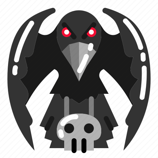 Bird, crow, dark, raven icon - Download on Iconfinder
