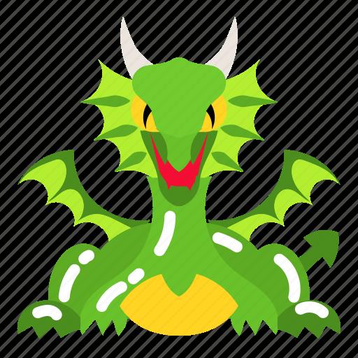 dinosaur, dragon, fantasy, fire, monster icon