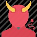 daemon, devil, fantasy, halloween, horn, legend, story