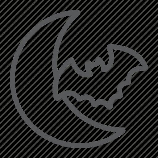 bat, halloween, horror, moon, night, scary icon