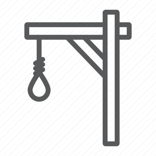 gallows, hang, knot, rope, string icon