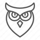 animal, bird, halloween, owl, wisdom icon