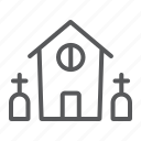 building, halloween, home, horror, house, scary, tombstone icon