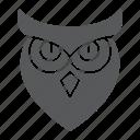 animal, bird, halloween, owl, wisdom icon