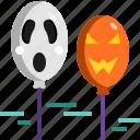 balloon, decoration, face, halloween, horror, scary icon