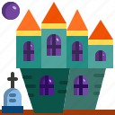 architecture, building, castle, ghost, halloween, haunted, house icon