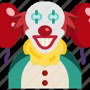 avatar, cartoon, circus, clown, halloween, horror, joker icon