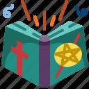 book, cast, magic, recipe, spell, witch icon