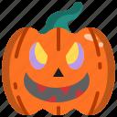 decoration, face, halloween, head, pumpkin, smile icon