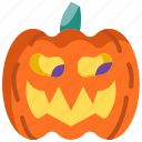 decoration, face, halloween, head, monster, pumpkin icon